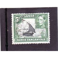 Восточно-африканское сообщество. Кения.Уганда.Танганьика.Ми-53.Парусник на озере Виктория. Король Георг VI. 1935.