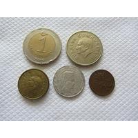 Сборка монет Турции.