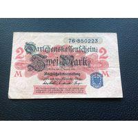 Германия,2марки,1914,синяя печать.