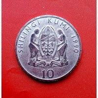 81-12 Танзания, 10 шиллингов 1990 г. Единственное предложение монеты данного года на АУ