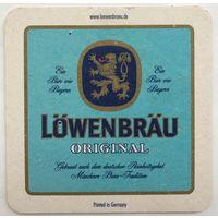Подставка под пиво Lowenbrau /Германия/