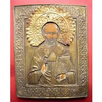 Икона Святителя и Чудотворца Николая.19 Век, без мнц!