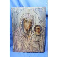 Старинная икона Божья Матерь, размеры 28-37 см. С РУБЛЯ. АУКЦИОН!!!