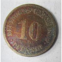 Германия. 10 пфеннигов 1892 D.  2-102