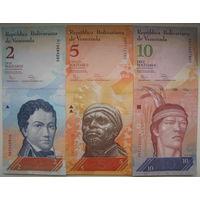 Венесуэла 12 банкнот 2, 5, 10, 20, 50, 100, 500, 1000, 2000, 5000, 10000, 20000 боливар 2016-2017 гг. Цена за все