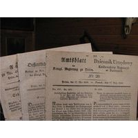 Восстание 1831 года, поисковые листы