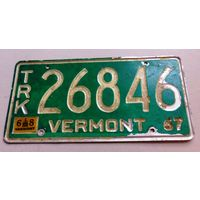 Номер, знак автомобильный США, 1967 год