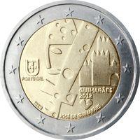 2 евро 2012 Португалия Гимарайнш Культурная столица Европы UNC из ролла