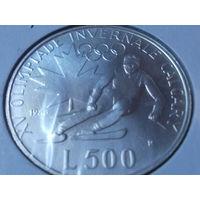 Сан-Марино 500 лир 1988 .Олимпиада в Калгари .серебро.