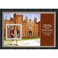 Гибралтар - 2009 - Коронация короля Генриха VIII - [Mi. bl. 87] - 1 блок. MNH.