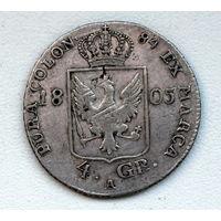 4 грошена 1805 А Пруссия
