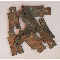 Древний Китай. 7 монет-мотыжек