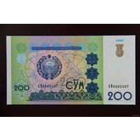 Узбекистан 200 сум 1997 UNC