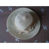Шляпка летняя женская с полями на 56 р-р