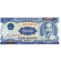 Вьетнам, 5 000 донгов обр. 1991 г., UNC