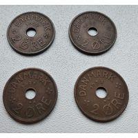 Дания 2 эре, 1928 6-8-10.12.13.15
