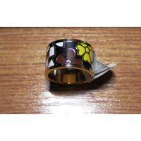Кольцо из нержавеющей стали с эмалью
