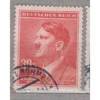 Германия Рейх Богемия и Моравия Адольф Гитлер Известные люди 1942  год  лот 6 по каталогу свыше 2.5 у.е