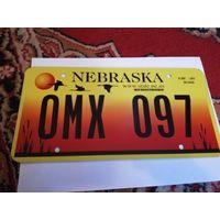 Автомобильный номер США штат Небраска