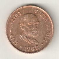 Южная Африка 1 цент 1982 окончание президенства Б.Й.Форстера