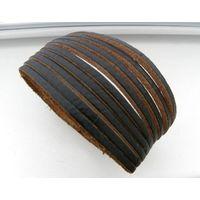 Новый браслет из натуральной кожи, 23х3 см. Унисекс. Германия.