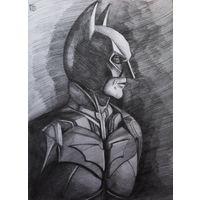 "Авторский рисунок размер А3. ""Бэтмен"". Автор Крис"