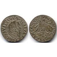 Грош 1545, Пруссия, Альбрехт Гогенцоллерн, Вариант портрета с длинной клиновидной бородой, высокий воротник