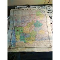 Карта Гродненская область 1969 г., масштаб 1: 600 000,  размер листа 54*46 см.