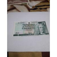ШОТЛАНДИЯ 1 фунт 2001 год