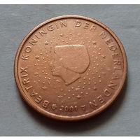 2 евроцента, Нидерланды 2001 г.