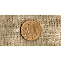 Барбадос 1 цент 1966 1977 /10 лет независимости//(ON)