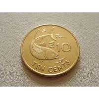 Сейшельские острова.  10 центов 2007 год KM#48a