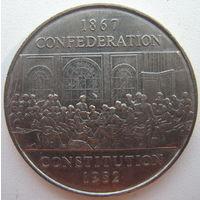 Канада 1 доллар 1982 г. 115 лет конституции Канады (m)