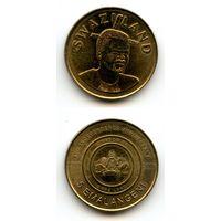 Свазиленд 5 эмалангени 2008 г. КМ#55 (40 лет со дня рождения Короля)