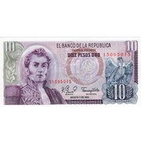 Колумбия, 10 песо, 1980 г., UNC