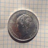 2 1/2 гульдена Кюрасао колония Нидерландска 1944г
