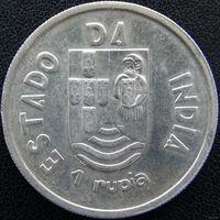 Португальская Индия 1 рупия 1935, серебро