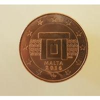 Мальта 5 евроцентов 2016 UNC из ролла