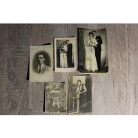 Фотографии разных годов и размеров, 5 штук.