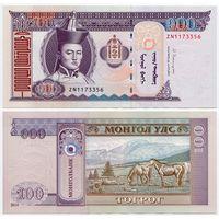 Монголия. 100 тугрик (образца 2014 года, P65c, UNC)