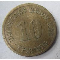 Германия. 10 пфеннигов 1896 D.  2-105