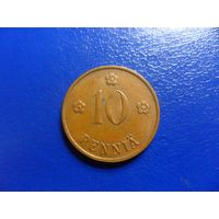 Финляндия 10 пенни 1938 г.