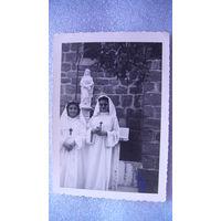 """Фото  """"Девочки в белых платьях с крестиками"""" .   распродажа"""