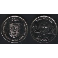Official England Squad. Midfield. Paul Scholes -- 2004 England - The Official England Squad Medal Collection (f02)