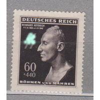 Германия Рейх  Протекторат Богемия и Моравия   1-я годовщина смерти Рейнхарда Гейдриха, 1904-1942 гг руны сс 1943 год