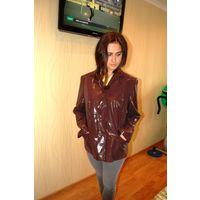 Стиль по Европейски. Куртка пиджак принт лазерная обработка , питон известной фирмы р. Л-ХЛ