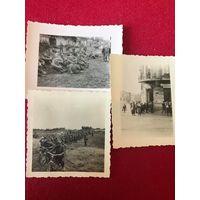 3 фото ВМВ пленные РККА 1941 - Восточный фронт - оригиналы (фена за все)