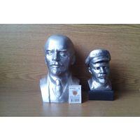 Два бюста В.И.Ленина. Ск. Н.Теплов, В.М.Сысоев, тираж 2500шт. 1974г. (возможен обмен)