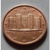 1 евроцент, Италия 2013 г., AU
