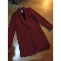 Пальто Zara XS бордовое классика